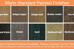 Mario Standard Painted Finishes
