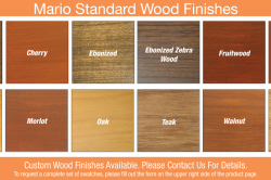 Mario Standard Wood Finishes
