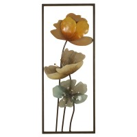 2624 | Metal framed wall décor with acrylic flowers
