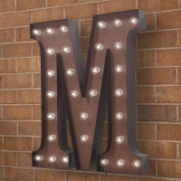 "CW5918 | Alphabet Sconce ""M""<br><strong>Minimum – 1 Piece</strong>"